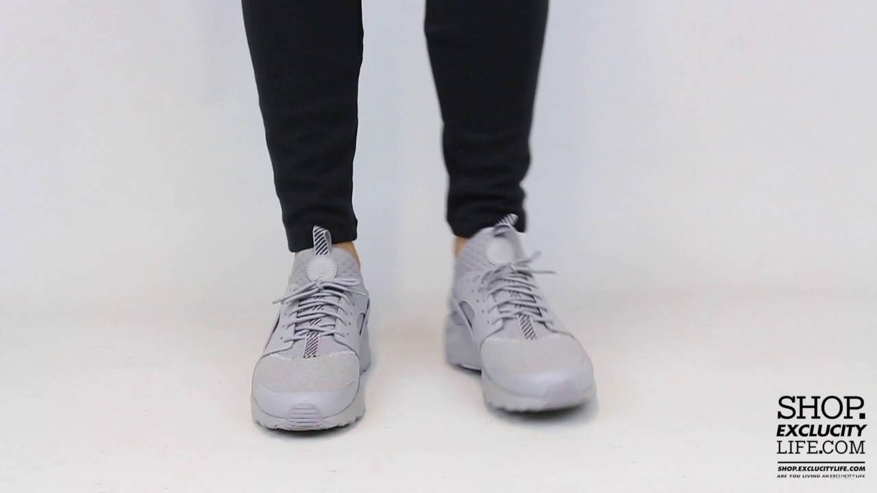 9560e3d68f61 Nike Huarache Ultra BR Light Grey On feet Video at Exclucity - YouTube