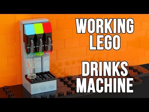 How To Build A Working Lego Drinks Dispenser Machine