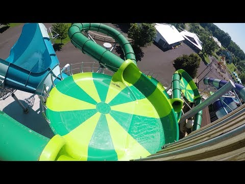 """United State's first FlyingSAUCER slide """"Cyclone Saucers"""" POV Beech Bend Park"""
