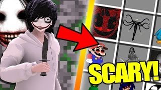 Minecraft CREEPY PASTA MOD / SUMMON JEFF THE KILLER, HE'S SCARY!! Minecraft