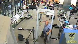Attack at Airport Screening Caught on Camera | Active Self Protection