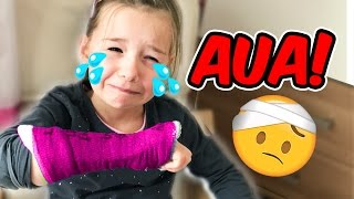 ARM GEBROCHEN?! 😱  Lulu PRANKT Papa! Lulu&Leon - Family and Fun