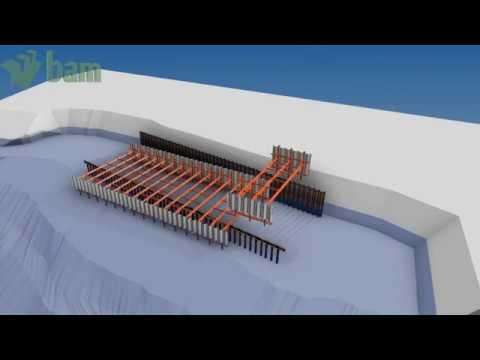 Animation showing how the new Rothera wharf will be constructed