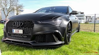 720HP Audi RS6 C7 w/ Milltek Exhaust and Decat Downpipes - Crazy LOUD Revs & Accelerations !