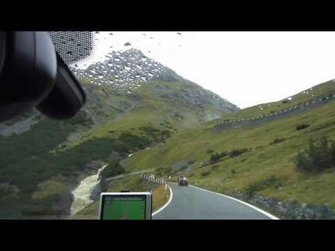 Driving in Swiss Alps - Davos to Venezia through Stelvio Pass