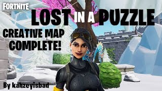 HOW TO COMPLETE LOST IN A PUZZLE | HARD FORTNITE CREATIVE