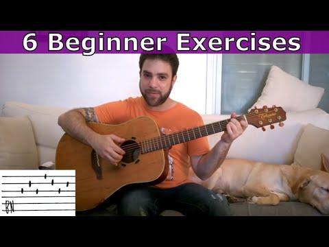 6 Beginner Fingerstyle Rhythm Patterns  - Guitar Lesson Tutorial w/ TAB