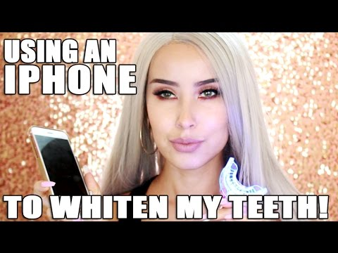 How To Whiten Your Teeth With An Iphone Ibright Teeth Whitening