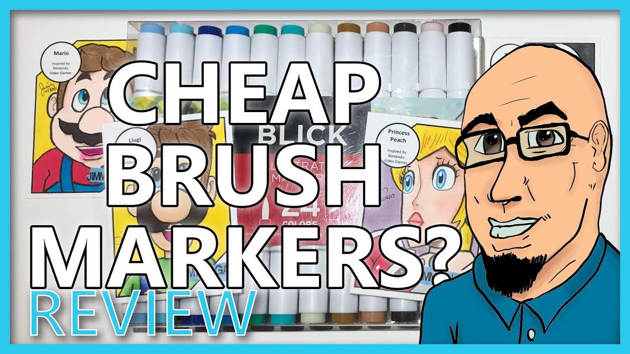 Blick Illustrator Markers Cheap Brush Marker Review Youtube