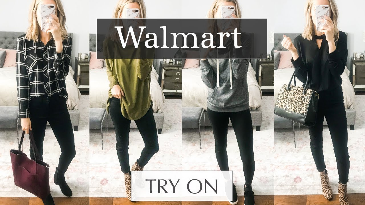 bdd7d8234b24d Huge Walmart Try On Haul  October 2018 Fall Outfits - YouTube