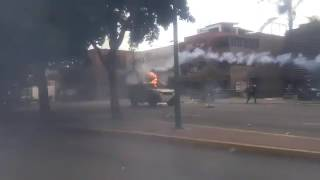 National Guard Trucks Run Over Protesters 1/2