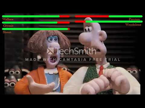 Download Wallace & Gromit  a close shave (1995) healthbar