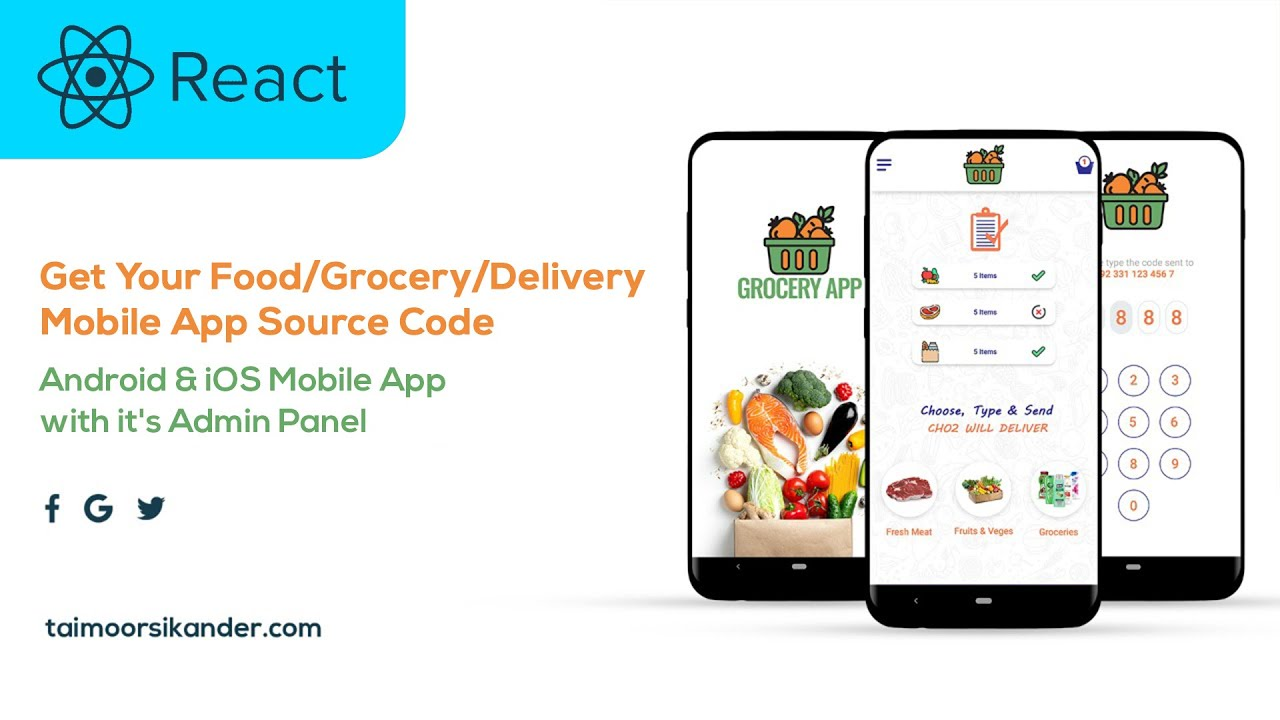 Ecommerce App Source Code - Grocery App - React Native Project - React Native - Android App Source Code