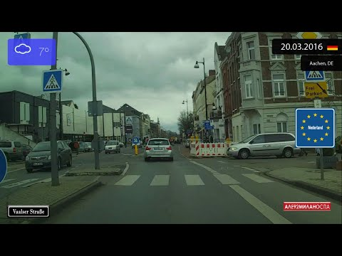 Driving from Aachen (Germany) to Vaals (Netherlands) 20.03.2016 Timelapse x4