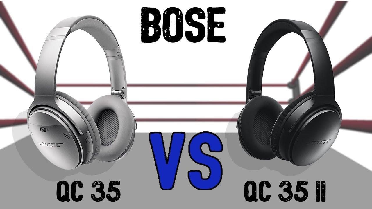 5f05b3ed1a7 Bose QC35 vs QC35 ii comparison - YouTube