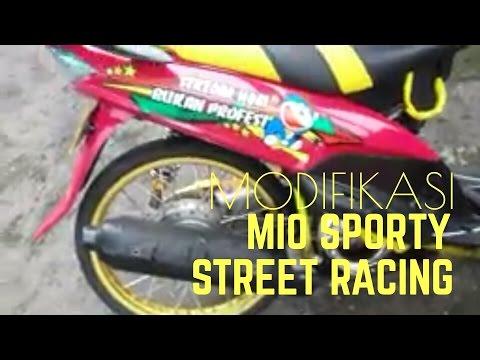 Modifikasi Yamaha Mio Sporty 2010 Street Racing Simple Pink Velg