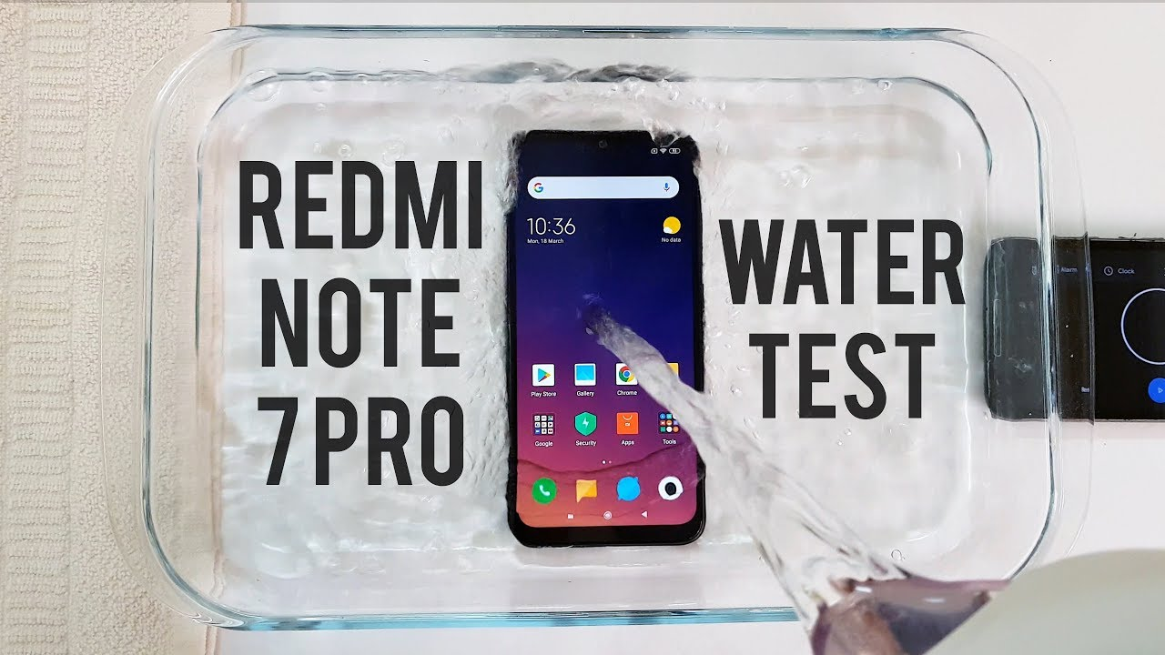 online store 9da58 729e6 Redmi Note 7 Pro Water Test! Actually Waterproof?