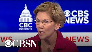 Elizabeth Warren goes after Bloomberg's record of funding GOP Senate campaigns