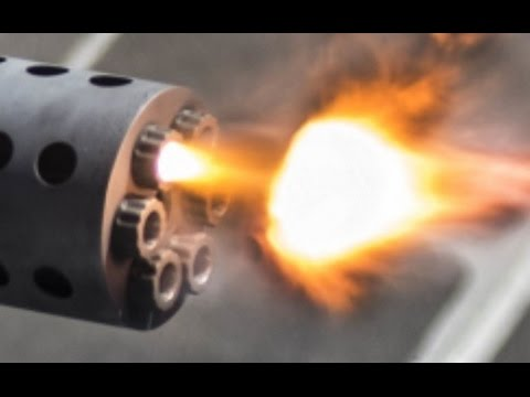 SUPER POWERFUL !!! US Military CIWS Gatling Gun Live fire exercise