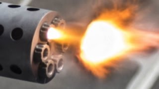 SUPER POWERFUL !!! US Military CIWS Gatling Gun Live fire exercise