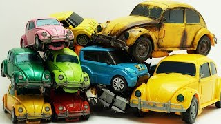 Bumblebee, Ironhide, Shockwave - Transformers Repaint! Tobot Robot Tritan Cars Color Chang ...