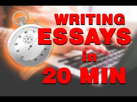 HOW TO TYPE A 2000 WORD ESSAY IN 20 MINUTES!!!