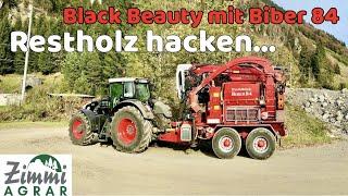 Fendt 936 Vario Black Beauty mit Hacker Eschlböck Biber 84 (Drohne,GoPro,HD)
