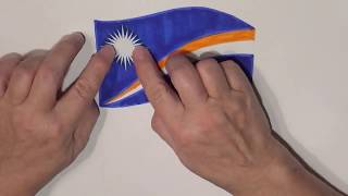 Learn geography for kids How to draw a flag Marshall islands