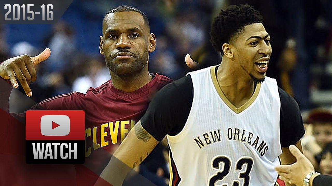 Anthony Davis vs LeBron James Duel Highlights (2015.12.04 ...