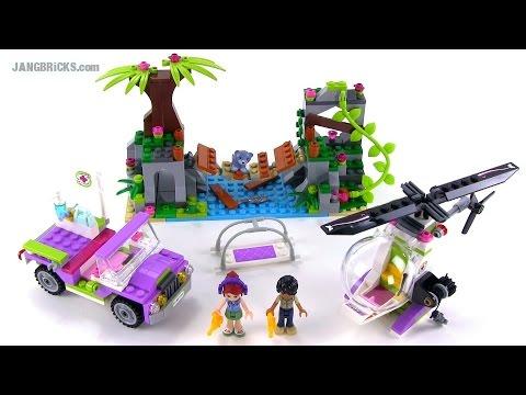 Lego Friends 41036 Jungle Bridge Rescue Set Review Youtube