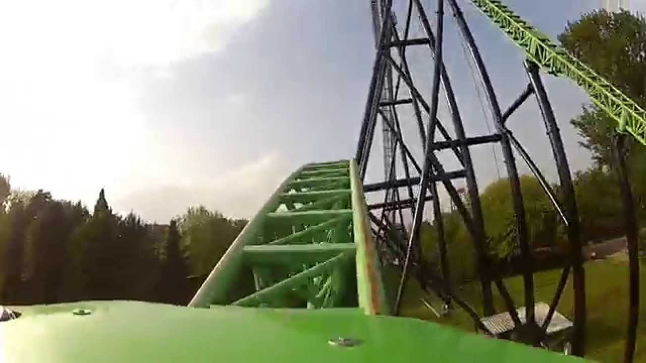 Goliath @ Walibi Holland (GoPro Mounted onride) - YouTube