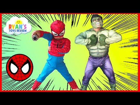 Thumbnail: The Hulk in Spiderman House Steal Egg Surprise Toys Ryan ToysReview