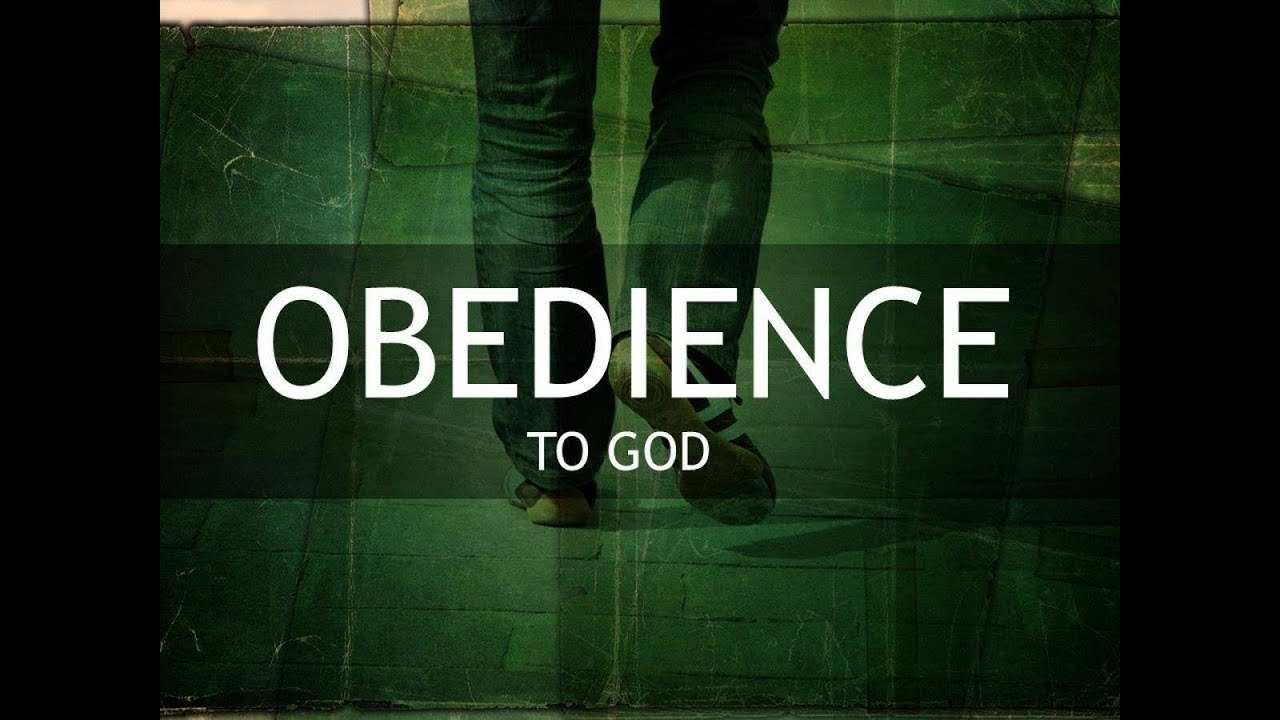 Obedience To God, It's Not An Outward Behavior, It's An Inward ...