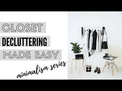 5 Steps To Decluttering Your Closet |  Minimalism & Organization