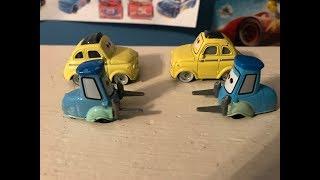 Disney Cars 2006 Luigi and Guido V.S. 2017 Luigi and Guido Review (Forklift Friday #8)