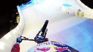 Motorcycle Trials on a Downhill Ice Cross Course w/ Dougie Lampkin