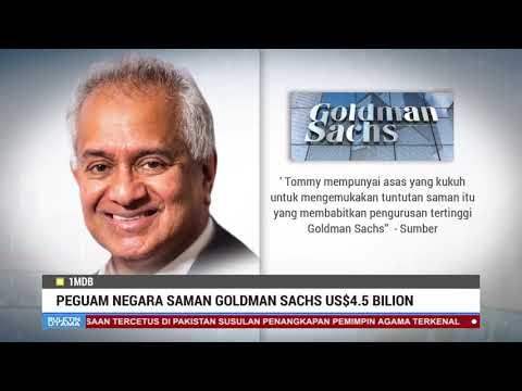 Peguam Negara Saman Goldman Sachs US$4.5 Bilion