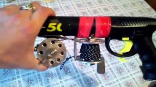 новая катушка для подводного ружья.