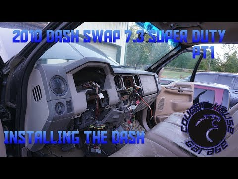 2010 DASH SWAP 7.3 SUPER DUTY PT1 Cougar House Garage Ep393