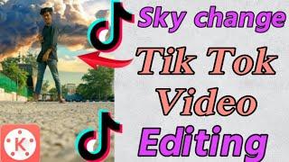Tik Tok Tutorial   Tik Tok New Viral video Editing in hindi  Tik Tok sky change video Edit  Tech Mom