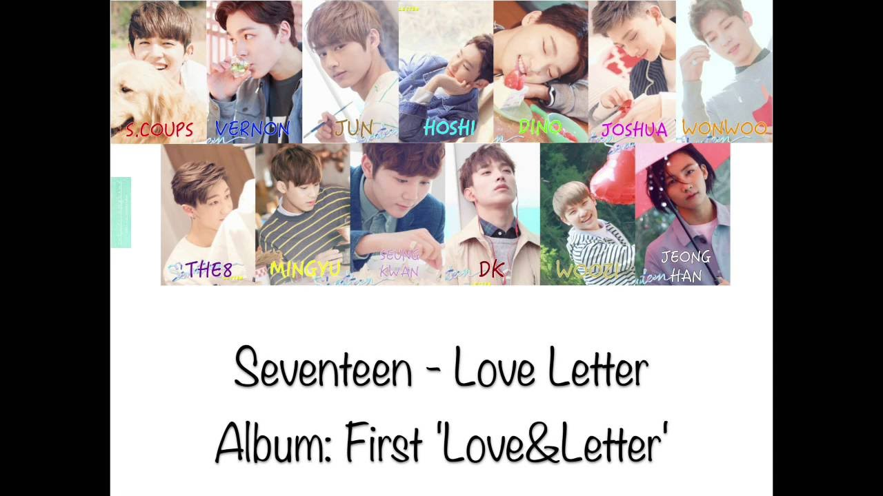 Seventeen - Love Letter - Color Coded Lyrics