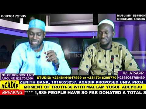 Download Mallam Yusuf Adepoju in MOMENT OF TRUTH - Episode 36 (LIVE PROGRAMME)