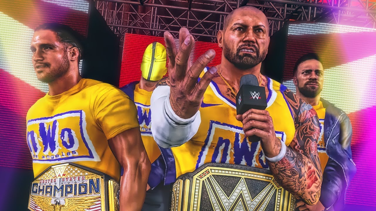 The nWo Los Angeles Reveal 4th Member (WWE Games Story)