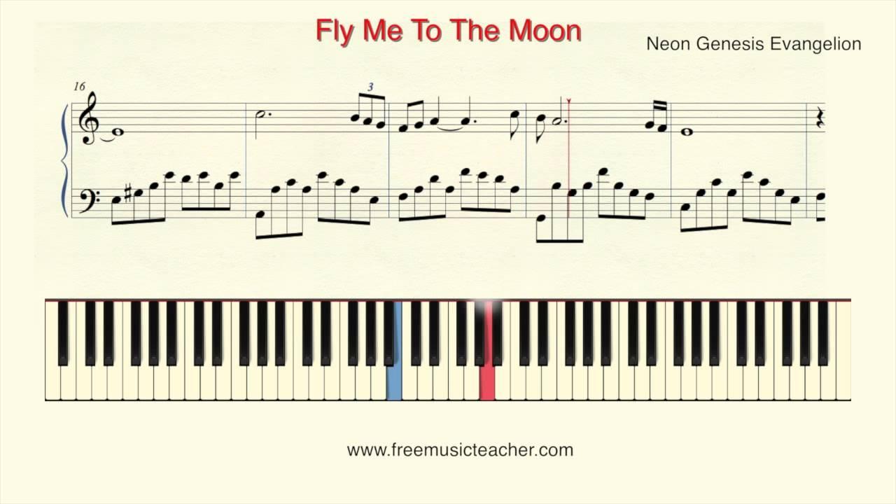 How to play piano neon genesis evangelion fly me to the moon how to play piano neon genesis evangelion fly me to the moon piano tutorial by ramin yousefi hexwebz Choice Image