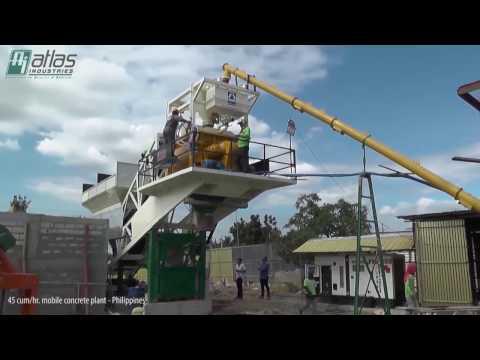 Portable Batch Plant - Ready Mix Concrete Plant in Philippines