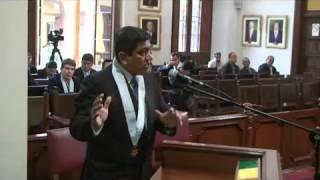 Carlos Alfredo Cardenas Borja sustenta Acción de Amparo ante el Tribunal Constitucional del Perú 2017 Video