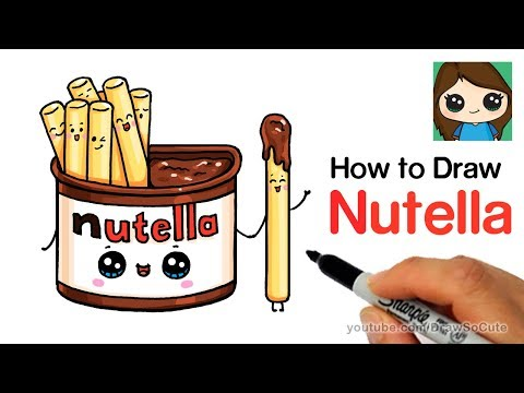 How to Draw Nutella Dip Cute and Easy
