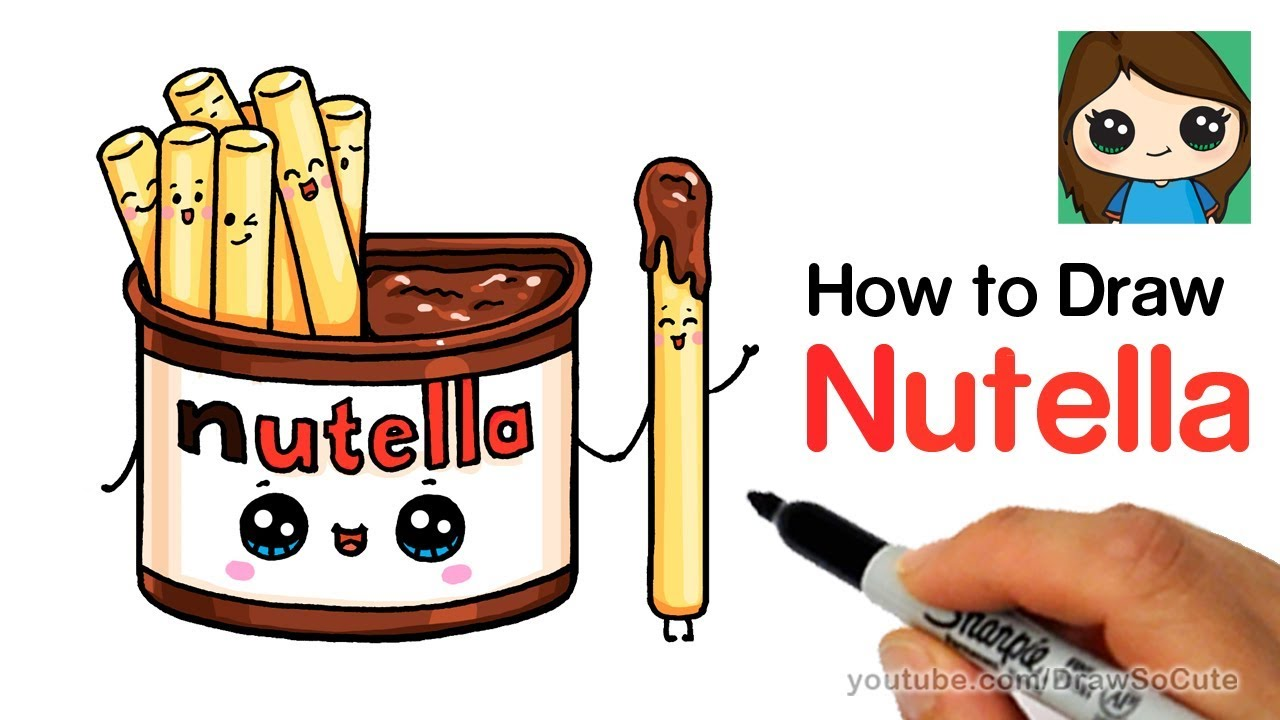 How To Draw Nutella Dip Cute And Easy Youtube