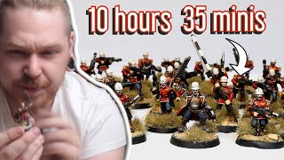 Retro Warhammer 40k Miniature Speed Painting Challenge Vs @Zorpazorp