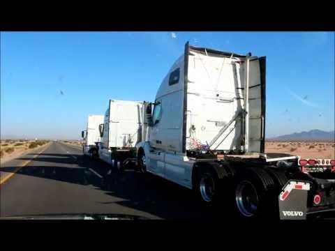 New KKW Transportation Volvo Trucks in Tow on I-10 WB
